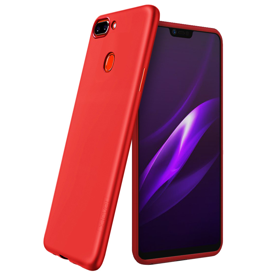 huge discount 1b4ca 80151 X-Level Guardian Flexi Slim Case for Oppo R15 - Red (Matte)